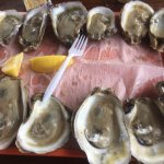 Oysters on the half-shell were excellent