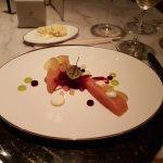 Vorspeise - Lachs mit Apfel und Randen