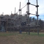 Challenging rope course
