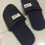 They replaced the dirty slippers with another rubber one, which also looks used