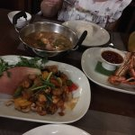 My wife, who is Thai, loved the Tom Yom dish. I may be spelling it wrong.