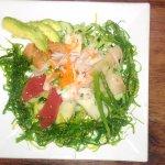 Seafood Salad with seaweed instead of lettuce