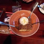 French apple cobbler ... a la mode - 3d fork was for our waitress ;)