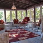 There's a wonderful porch for the summertime.