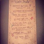 The ever-anticipated WINTER DRINK menu.