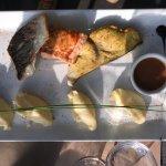 Assiettes trio de la mer  Filet d'omble chevalier  Filet de truite  Pavé d'espadon  Sauce minute