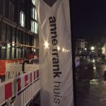 Banner outside the Anne Frank House