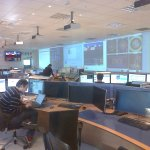 Control room of the Atlas detector - largest of the 4 .