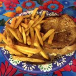 Grilled 3-Cheese Sandwich with Fries