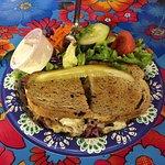 Corned Beef Reuben Sandwich with Salad