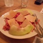 Prosciutto & melon with parmesan