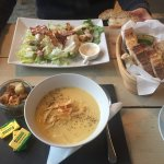 parsnip soup and caesar salad