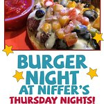 The auburn location has their burger night on thursdays