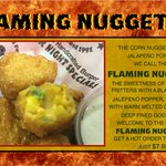 Add a kick to your favorite Niffer's appetizer! Corn Nuggets but with jalapenos and cheese!