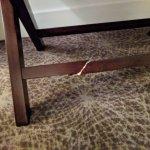 Broken furniture in our room