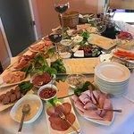 Partial breakfast spread