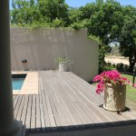 Our private dip pool with view of Sand river