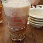 The chocolate egg cream soda, that has no eggs in it,lol. It was really good!