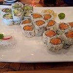 Spice Tuna Crunch, Salmon Crunch, and California Roll