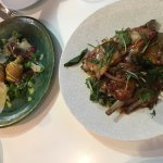 Zucchini Flowers + Slow cooked Lamb Ribs