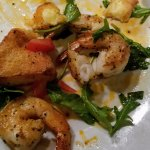 Shrimp and Crispy Polenta Cakes