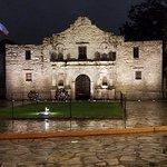 The Alamo after the rain on a Sunday evening