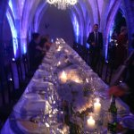 Wedding - mirror topped tables, exquisite setting, fab flower arrangements