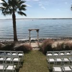 View of our ceremony from cottage 2 facing out the screened in back porch