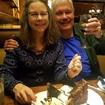 Cynthia and I with the amazing and decadent Chocolate Stampede.
