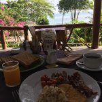 Private beach and breakfast view