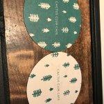 Christmas Cactus Club coasters, Cactus Club Cafe 1125 Douglas St, Victoria, British Columbia