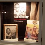 Robert Johnson display in the lobby
