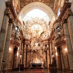 The high altar of St. Charles Church (Karlskirche) in Vienna