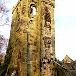 The old ruined church tower stands forlorn