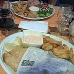 Tartare et fish and chips