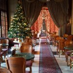 A formal room, adjoining the café - dressed for Christmas