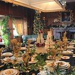 The Billiard room transformed into a banquet hall