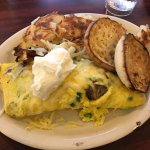 German omelette special....see the bug chillin in the hash browns?