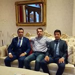 me,Hakan the good manager in the left and Ahmet the polite assistant in the right side of me