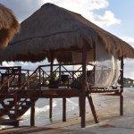 Massage area on the main beach.