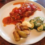 Sea Bass speciality, Mediterranean veg. Chef Enzo: Genius!!