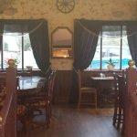 Top restaurant eating area
