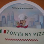 Tony's NY Pizza sign