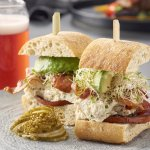Crab BLT is on the menu at our bar