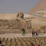 View of the Sphinx looking across the Sound and Light seating area