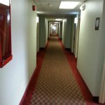 View of the carpeted corridor
