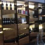 Wine display section of dining area