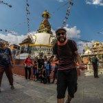 One of the many Stupas around Thamel