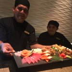 The sushi chefs asked our food preference and served up this delicious variety of sashimi and ro