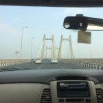 The smaller spans of bridge